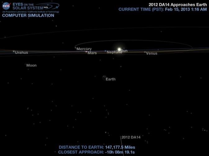 Сегодня ночью на Пхукете можно будет наблюдать приближение крупного астероида