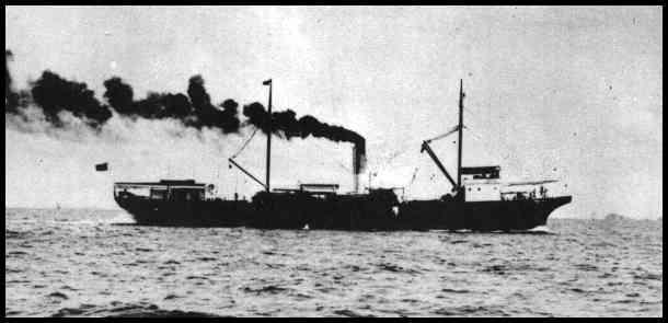 Одно из судов морского сообщения между двумя островами.