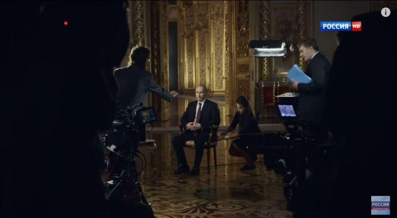 Российские госканалы показали фильм про Путина