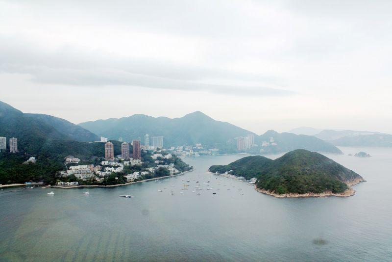 Обратная сторона Гонконга. Вид с фуникулера в Ocean World.