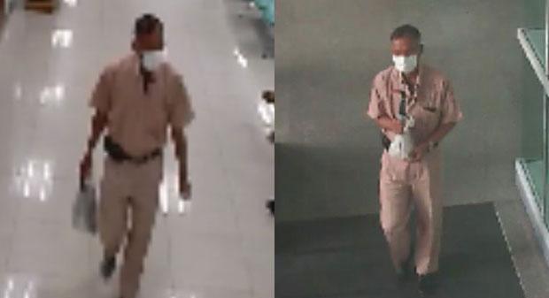 Подозреваемый на записях с камеры видеонаблюдения. Фото: Bangkok Post / Royal Thai Army