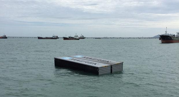 Контейнеровоз затонул в Сиамском заливе