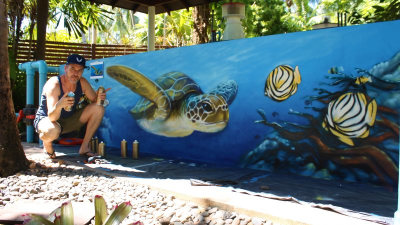 Работа Патрика в Mai Khao Marine Turtle Foundation.